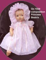 Baby Doll Dress, Bonnet, Slip Set Embroidered Organdy