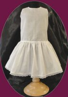 Antique Doll Dress  Dropped Waist Slip