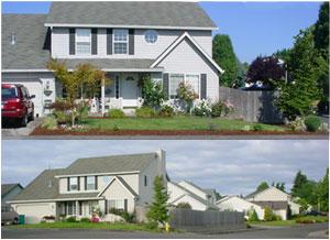 Our house and neighborhood