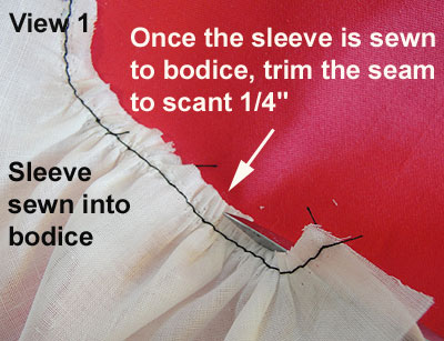 How to make doll dresses - Sleeve seam