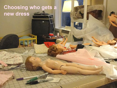 choosing who gets a dress
