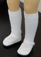Toni Doll Shoes, Dressy White,  or Pink for 14″ P-90