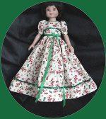 Sweet Sue,Maggie, 14″ Hard plastic Dress Christmas Joy