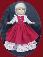 Toni Doll Dress, Little Women Style, Morning Dress