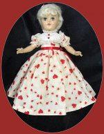 Toni Doll Dress,  Valentine's Day