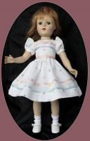 Sweet Sue Dress for 17-18″ Doll, Poika Dot Pique
