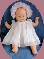 Baby Doll Dress, Bonnet Slip,Swiss Organdy