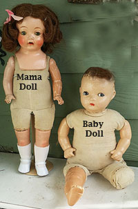 Mama Doll Dresses, for Composition Mama Dolls