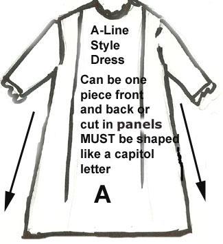 Antique Doll Dress A-line Style