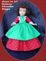 Sweet Sue 14″ Doll Christmas Dress Oh Christmas Tree