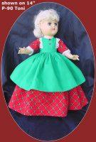 Toni Doll Christmas Dress Oh Christmas Tree