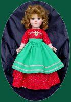 Toni Doll Dress, Christmas Dinner, for P-91