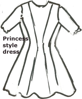 Antique Doll Dress Princess style