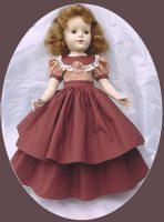 Sweet Sue, Nanette, 17-18″ Doll Dress. Autumn Waltz