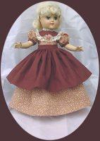 Ideal Toni Doll Dress, Autumn Serenade