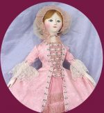 Queen Anne Doll CA 1760,Hand Carved   By Artist