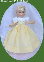 Toni Doll Dress, Daffodil Spring, P-90, P91, P-92, P-93