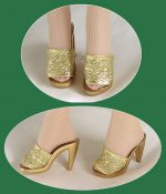Gene, Tyler Doll Shoes Gold FREE SHIPPING