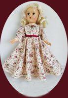 Toni Doll Dress, Dahlia Garden
