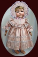 Antique Doll Dress, Dupioni Silk, 4-Pce FREE SHIPPING
