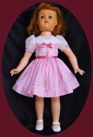 Toni Doll P-93 and P-92 Pink Voile doll dress