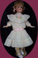 Antique Doll Dress Style Dress & Slip 2-piece