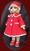 Robert Tonner Patsy Doll Christmas Coat Set