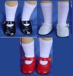Toni Doll Shoes, 16″ P-91, & 17-18″ Sweet Sue, Scallop Trim