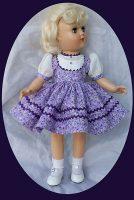 Toni Doll Dress Purple Rain