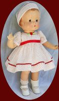 Patsy  Doll Dress and Hat 1930's Dimity
