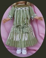 Antique Doll Dress Visit to Venice, Silk FREE SHIPPING