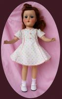 Sweet Sue Doll Dress, Multi-colored Dots- 14″ Doll