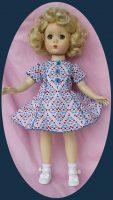 Sweet Sue Doll Dress, Tiny Floral Print- 14″ Doll