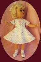 Toni Doll Dress, 14″ P-90 Multicolor Dots