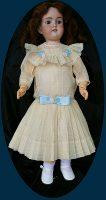 Antique doll Dress Buttercup Ecru 2-pc