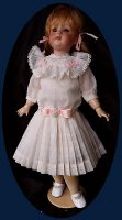 Antique doll Dress Buttercup Off-white