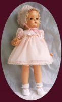 Patsy Ann Doll Dress,Hat and Slip 3-PC