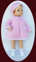 Patsy Ann Doll Pink Coat and Hat