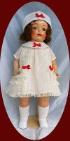 Mama Doll Dress, Slip and Hat 1930s Fabric 3-Pc