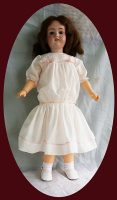 Antique Doll Dress Style in Cotton Batiste