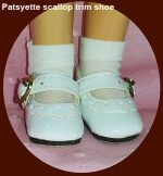 Sweet Sue Doll Shoes, Scallop Trim, for 14″ Sweet Sue