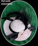 Fashion Doll Straw Hat With Feathers