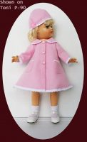 Ideal Toni Doll Pink Coat and Hat Set