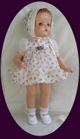 Patsy Ann Doll Dress and Bonnet Purple Rosebud