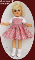 Toni Doll Dress, English Garden, P-90 and P-91