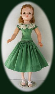 2016 Cissy Doll Dress in green silk