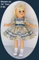 Ideal Toni Doll Dress, Blue Rick Rack