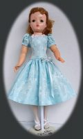 Cissy Doll Dress, Misty Blue with Matching Nylons