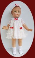 Patsy Lou Doll Dress, Hat and Slip  Set