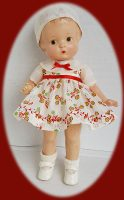 Patsy Doll Dress and Hat 1930s Dimity 3